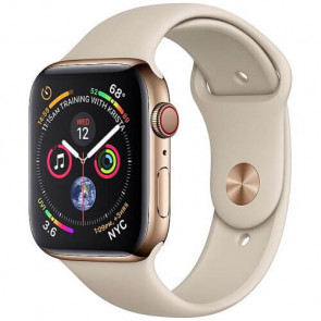 Apple WATCH Series 4 GPS + Cellular 44mm Gold Stainless Steel with Stone Sport Band (MTV72)