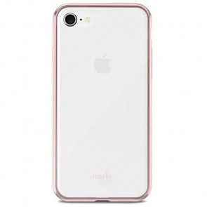 Чехол-накладка Moshi Vitros Clear Protective Case Orchid Pink for iPhone 8/7 (99MO103252)