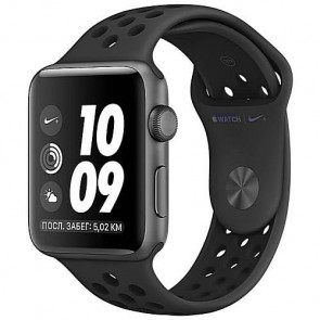 Apple WATCH Nike+ GPS, 38mm Space Grey Aluminium Case with Anthracite/Black Nike Sport Band (MQKY2)