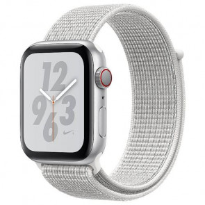 Apple WATCH Nike+ Series 4 GPS + Cellular 44mm Silver Aluminum Case with Summit White Nike Sport Loop (MTXA2)