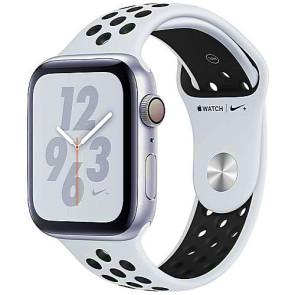 Apple WATCH Nike+ Series 4 GPS 44mm Silver Aluminum Case with Pure Platinum/Black Nike Sport Band (MU6K2)