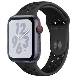 Apple WATCH Nike+ Series 4 GPS + Cellular 44mm Space Gray Aluminum Case with Anthracite/Black Nike Sport Band (MTXE2)