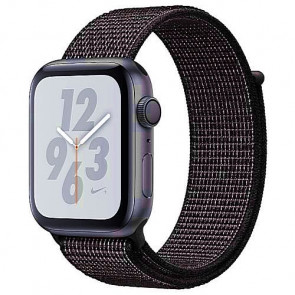 Apple WATCH Nike+ Series 4 GPS 40mm Space Gray Aluminum Case with Black Nike Sport Loop (MU7G2)