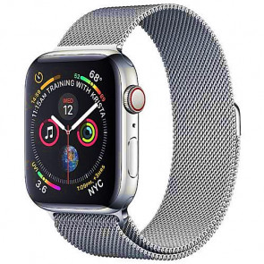 Apple WATCH Series 4 GPS + Cellular 40mm Stainless Steel Case with Milanese Loop (MTUM2)