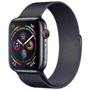 Apple WATCH Series 4 GPS + Cellular 44mm Space Black Stainless Steel Case with Space Black Milanese Loop (MTV62)