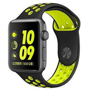 Ремешок COTEetCI W12 Apple Watch Nike band 42mm Black/Yellow (WH5217-BK-YL)