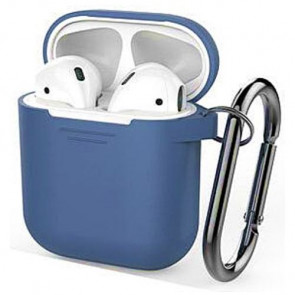 Чехол для наушников AhaStyle Silicone Case for AirPods with Belt Blue (X001JBN5AR)
