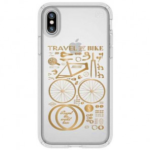Чехол-накладка Speck for iPhone X Presidio Citybike Metallic Gold Yellow/Clear (SP-103136-6678)