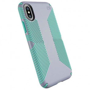 Чехол-накладка Speck for iPhone X Presidio Grip Dolphin Grey/Aloe Green (SP-103131-6249)