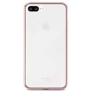 Чехол-накладка Moshi Vitros Clear Protective Case Orchid Pink for iPhone 8Plus/7Plus (99MO103253)