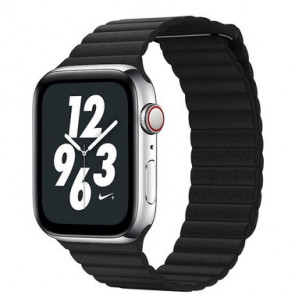 Ремешок COTEetCI W7 Leather Magnet Band For Apple Watch 38mm/40mm Black (WH5205-BK)