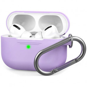 Чехол для наушников AhaStyle Silicone Case with Carabiner for Apple AirPods Pro Lavender (AHA-0P100-LVR)