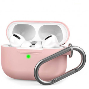 Чехол для наушников AhaStyle Silicone Case with Carabiner for Apple AirPods Pro Pink (AHA-0P100-PNK)