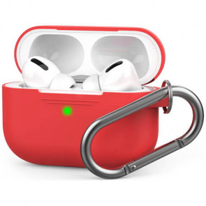 Чехол для наушников AhaStyle Silicone Case with Carabiner for Apple AirPods Pro Red (AHA-0P100-RED)