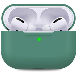 Чехол для наушников AhaStyle Silicone Case for Apple AirPods Pro Midnight Green (AHA-0P300-MDG)