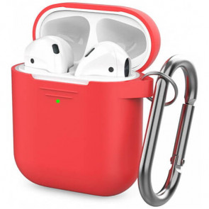 Чехол для наушников AhaStyle Silicone Case for AirPods with Belt Red (X001M5BDQX)