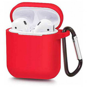 Чехол для наушников Blueo Liquid Silicon+Metal Hook Case for AirPods Dynamic Red