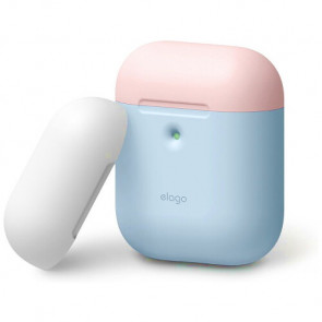 Чехол для наушников Elago A2 Duo Case Pastel Blue/Pink/White for Airpods with Wireless Charging (EAP2DO-PBL-PKWH)
