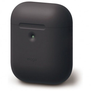 Чехол для наушников Elago A2 Silicone Case Black for Airpods with Wireless Charging Case (EAP2SC-BK)