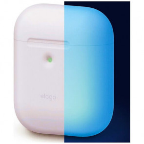 Чехол для наушников Elago A2 Silicone Case Nightglow Blue for Airpods with Wireless Charging Case (EAP2SC-LUBL)
