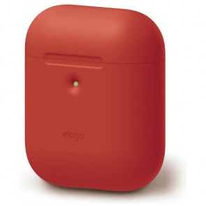 Чехол для наушников Elago A2 Silicone Case Red for Airpods with Wireless Charging Case (EAP2SC-RD)