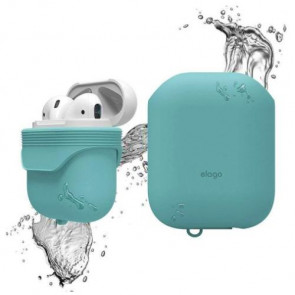 Чехол для наушников Elago Waterproof Case Coral Blue for Airpods (EAPWF-BA-CBL)