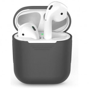 Чехол для наушников AhaStyle Silicone Case for AirPods Dark Grey (X001CY26SX)