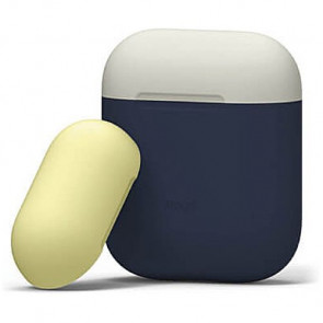 Чехол для наушников Elago Duo Case Jean Indigo/Classic White/Yellow for Airpods (EAPDO-JIN-CWHYE)