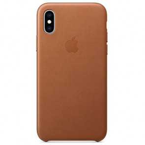 Чехол-накладка Apple iPhone XS Leather Case Saddle Brown (MRWP2)