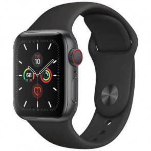 Apple Watch Series 5 40mm Space Gray GPS + Cellular Aluminium Case with Black Sport Band