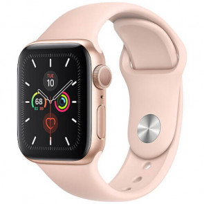 Apple Watch Series 5 40mm Gold GPS Aluminium Case with Pink Sport Band
