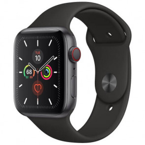 Apple Watch Series 5 44mm Space Gray GPS + Cellular Aluminium Case with Black Sport Band (MWW12)