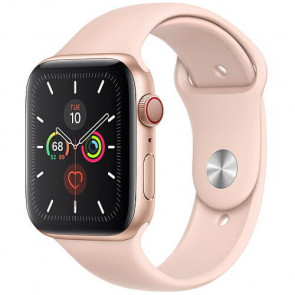 Apple Watch Series 5 44mm Gold GPS + Cellular Aluminium Case with Pink Sand Sport Band (MWW02)