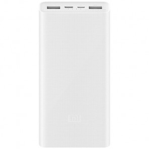 Внешний аккумулятор Xiaomi Mi Power Bank 3 20000 mAh (2USB+Type-C) PLM18ZM White (VXN4258CN)