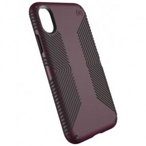 Чехол-накладка Speck for iPhone X Presidio Grip Fig Purple/Ochre Black (SP-109679-7279)