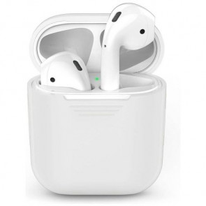 Чехол для наушников AhaStyle Silicone Case for AirPods White (X001BB1007)
