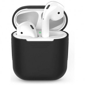 Чехол для наушников AhaStyle Silicone Case for AirPods Black (X001EA1K3H)