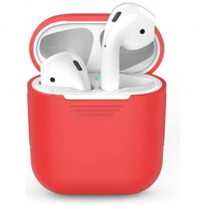 Чехол для наушников AhaStyle Silicone Case for AirPods Red (X001DC77ZB)