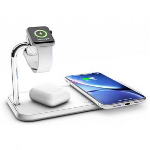 Беспроводное зарядное устройство Zens Dual Aluminium Wireless Charger + Watch 10W White (ZEDC05W/00)