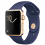 Apple WATCH Series 2, 38mm Gold Aluminium Case with Midnight Blue Sport Band (MQ132)