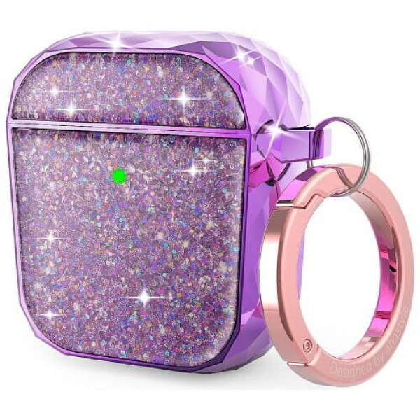 Чохол для навушників AhaStyle Twinkle Glitter Protection Case for AirPods 1/2 Lavender Purple (CP-119A-LR)