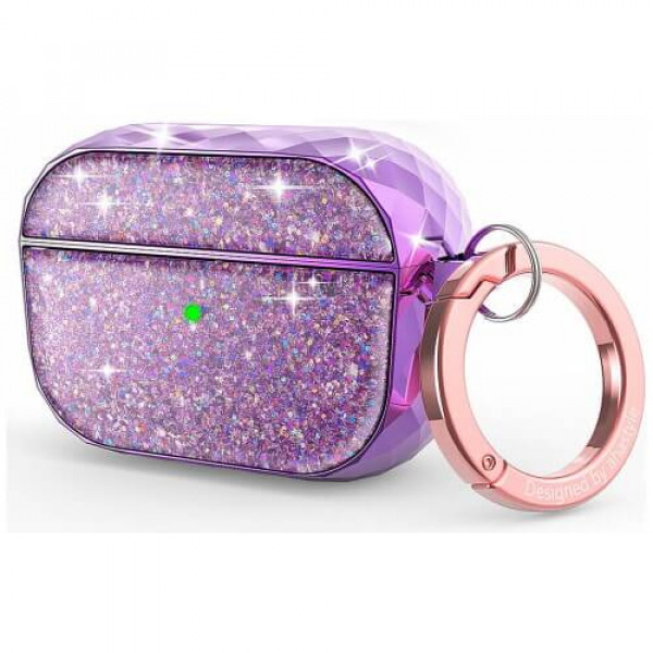 Чохол для навушників AhaStyle Twinkle Glitter Protection Case for AirPods Pro Lavender Purple (CP-119P-LR)