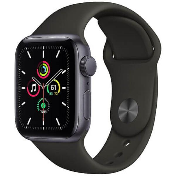 Apple WATCH SE 40mm Space Gray Aluminium Case with Black Sport Band (MYDP2)