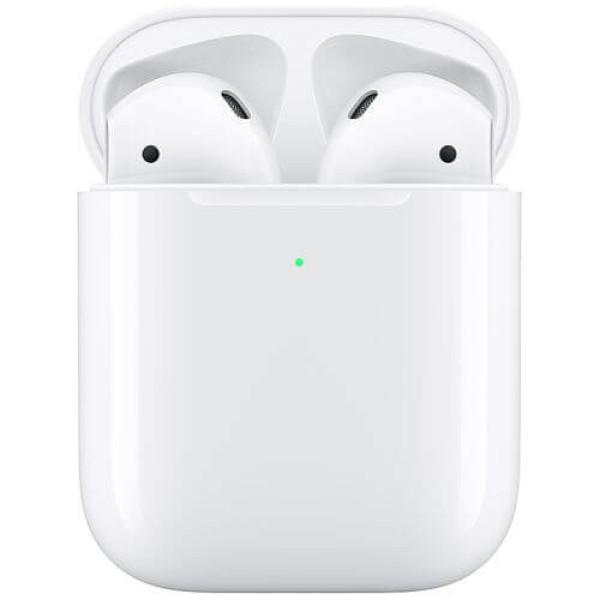 Apple AirPods 2 з можливістю бездротової зарядки (MRXJ2)