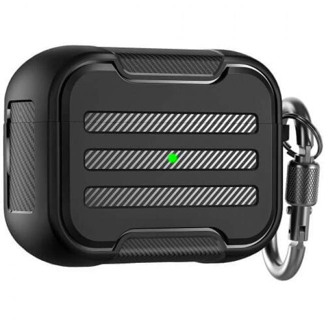 Чохол для навушників AhaStyle Rugged Hard-Shell Case for Airpods Pro Black (CP-115P-BK)