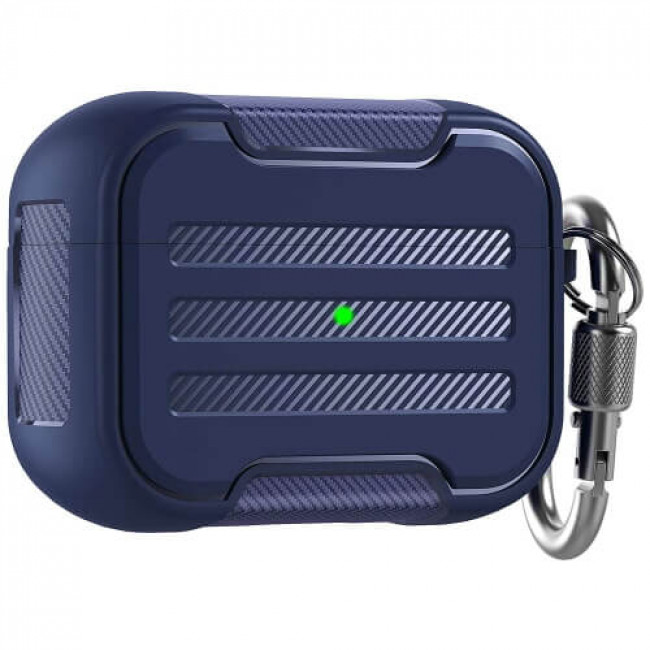 Чохол для навушників AhaStyle Rugged Hard-Shell Case for Airpods Pro Midnight Blue (CP-115P-MB)