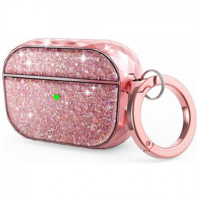 Чохол для навушників AhaStyle Twinkle Glitter Protection Case for AirPods Pro Pink (CP-119P-PK)