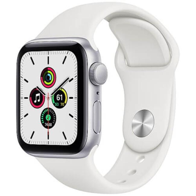 Apple WATCH SE 40mm Silver Aluminium Case with White Sport Band (MYDM2)