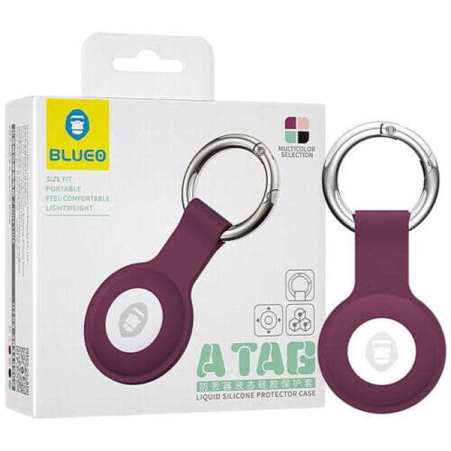 Аксесуар Blueo AirTag Antilost Liquid Silicone Protector Raspberry (BLATGRPRD)