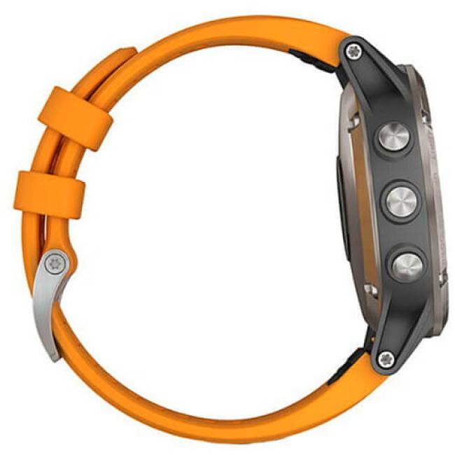 Смарт-годинник Garmin Fenix 5 Plus Sapphire Orange (010-01988-05/04) ГАРАНТІЯ 3 міс.